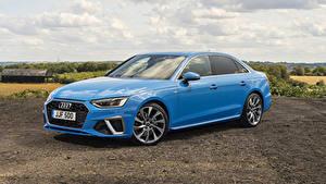 Фото Audi Голубые Металлик 2019 A4 40 TFSI S line авто