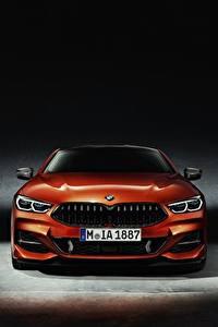 Фото BMW Спереди Оранжевых Купе 8-Series 2018 авто