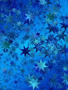 Картинка Текстура Звездочки Синяя