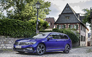Фотография Volkswagen Синих Металлик Универсал 2019 Passat R-Line Variant Worldwide