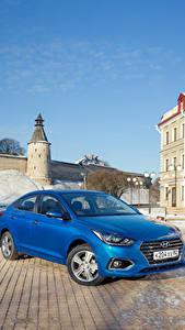 Фотография Hyundai Синий 2017 Solaris (HCR) Авто