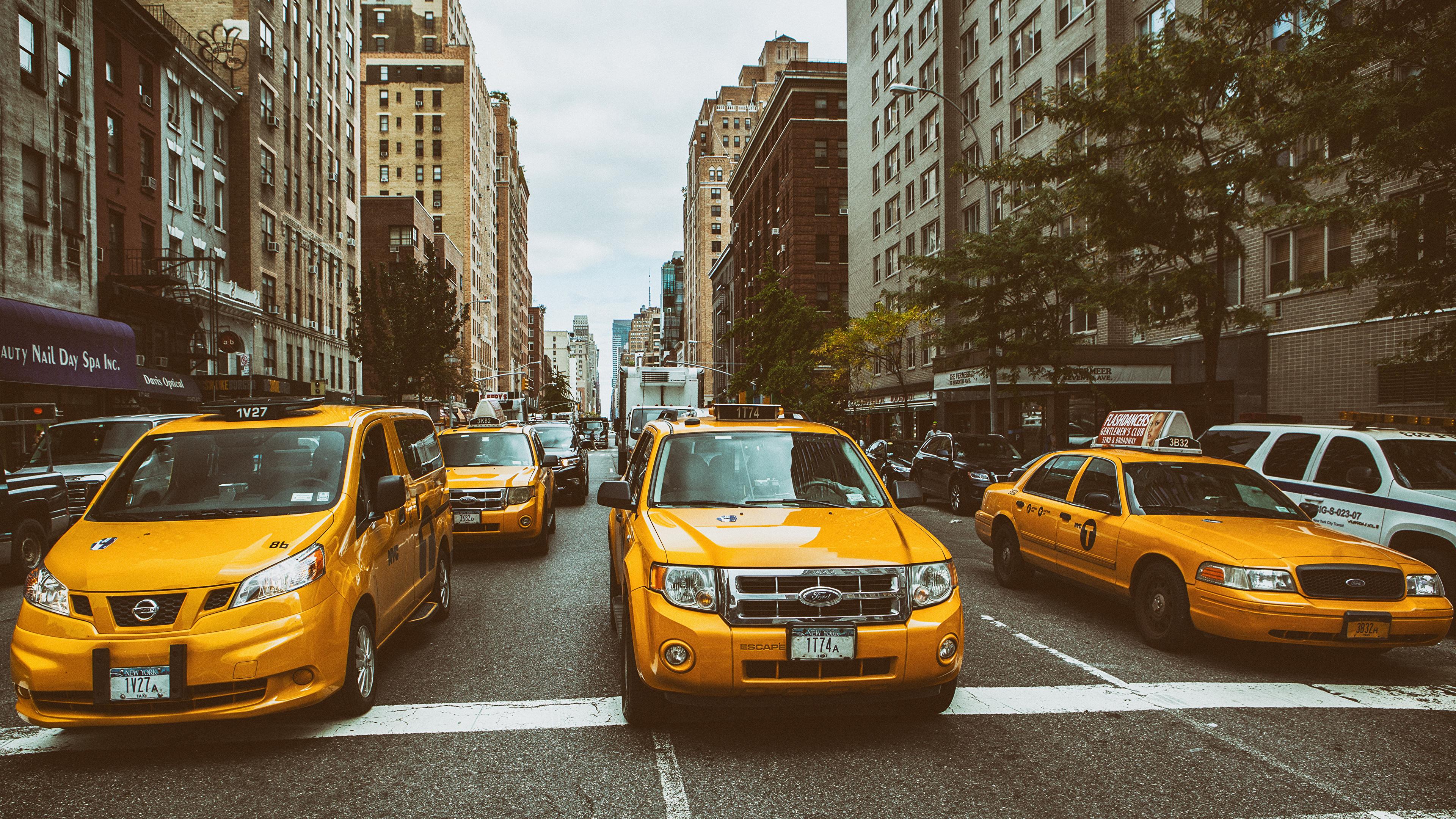 Обои такси, улица. Города foto 10
