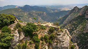 Фотографии Испания Горы Скала Catalonia, Pyrenees