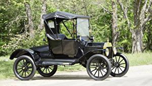 Картинка Форд Ретро Черный 1915 Model T Runabout автомобиль