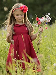 Фото Букеты Платье Девочки Ребёнок