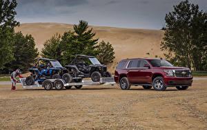 Фотография Chevrolet Бордовая Металлик 2018 Tahoe LS  Custom Машины