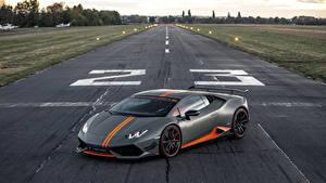 Обои Ламборгини Серый 2018-19 Luethen Motorsport Huracan LP 610-4 Avio Авто