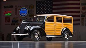 Фото Форд Винтаж 1937 Ford V8 Deluxe Station Wagon машина
