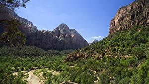 Фото Зайон национальнай парк США Парки Гора