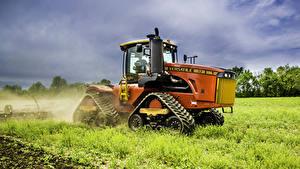 Обои Поля Трактор Траве 2013-17 Versatile 550DT