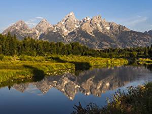 Обои Гранд-Каньон парк Штаты Парки Горы Речка Леса Природа