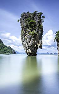 Фото Таиланд Тропики Залив Утес Phuket