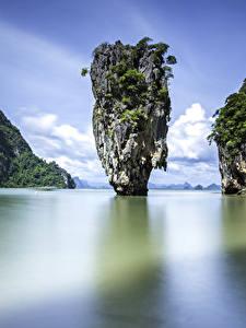 Фото Таиланд Тропики Залив Утес Phuket Природа