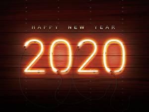 Обои Новый год 2020 neon