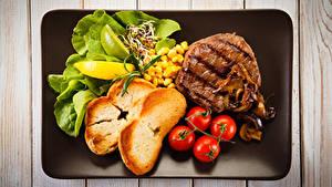 Обои Мясные продукты Хлеб Овощи Томаты