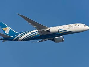Фотография Самолеты Пассажирские Самолеты Boeing Сбоку Oman Air, 787-8