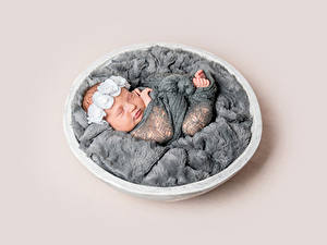 Картинки Цветной фон Младенца Спит ребёнок