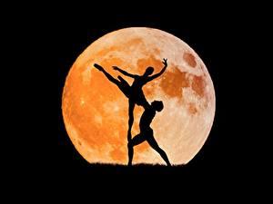 Обои Луны Силуэты Балет