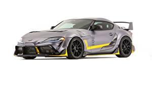 Картинки Toyota Белым фоном Серые Металлик Купе Concept, Supra, 3000GT, 2019, GR Supra, A90 машина