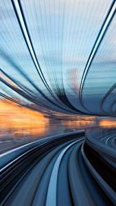 Фотографии Поезда Япония Токио Едущий