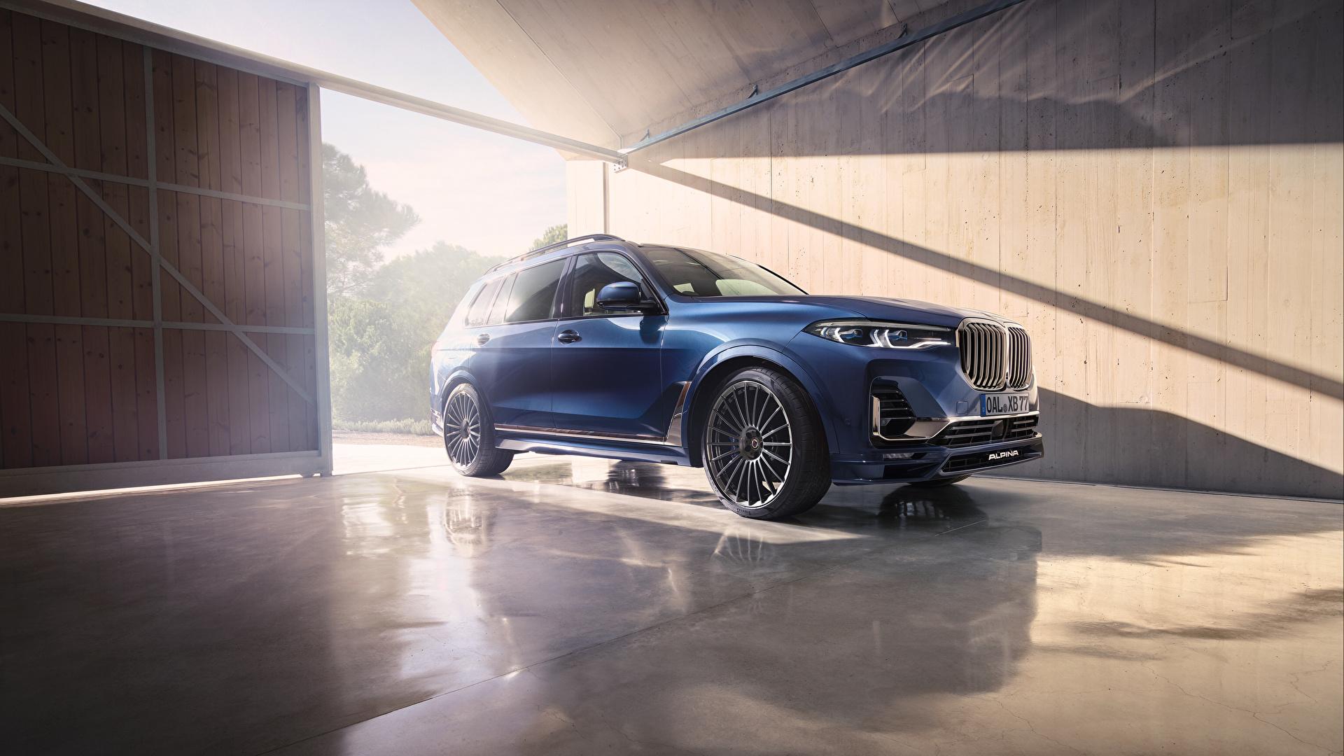 Обои для рабочего стола BMW Кроссовер 2020 Alpina XB7 Worldwide синяя Автомобили 1920x1080 БМВ CUV Синий синие синих авто машины машина автомобиль
