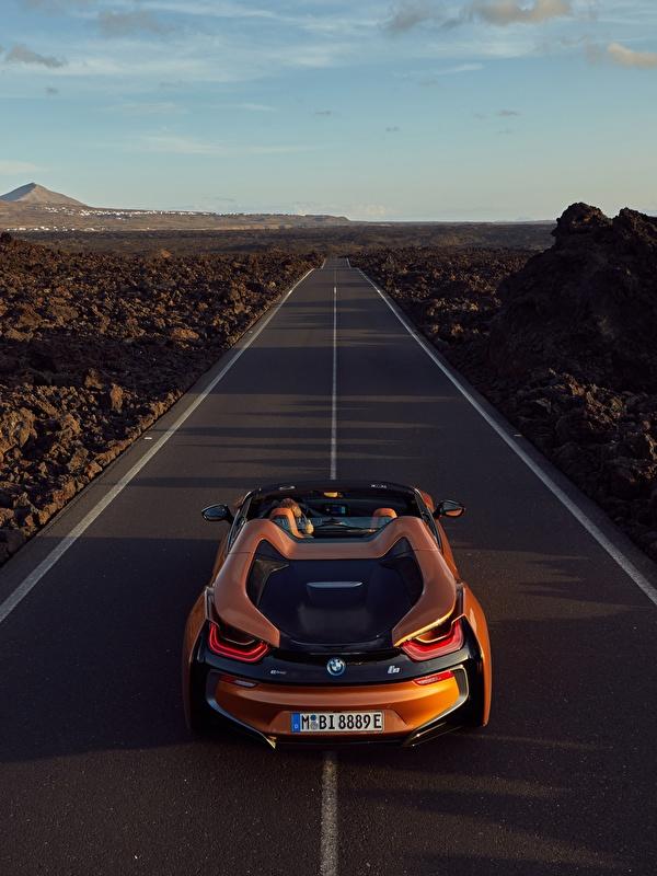 Картинка БМВ 2018 i8 Родстер оранжевые Дороги Автомобили 600x800 BMW оранжевых Оранжевый оранжевая авто машина машины автомобиль