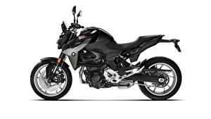 Фото BMW - Мотоциклы Черные Сбоку Белом фоне F 900 R, 2020 Мотоциклы