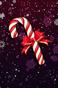 Картинки Рождество Леденцы Бантик