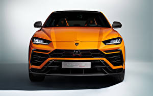 Фото Lamborghini Спереди Оранжевая Металлик CUV Urus, Pearl Capsule, 2020