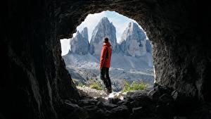 Фото Гора Мужчины Тоннель Путешественник Пещере