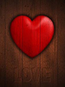 Картинка День святого Валентина Вблизи Доски Инглийские Сердце