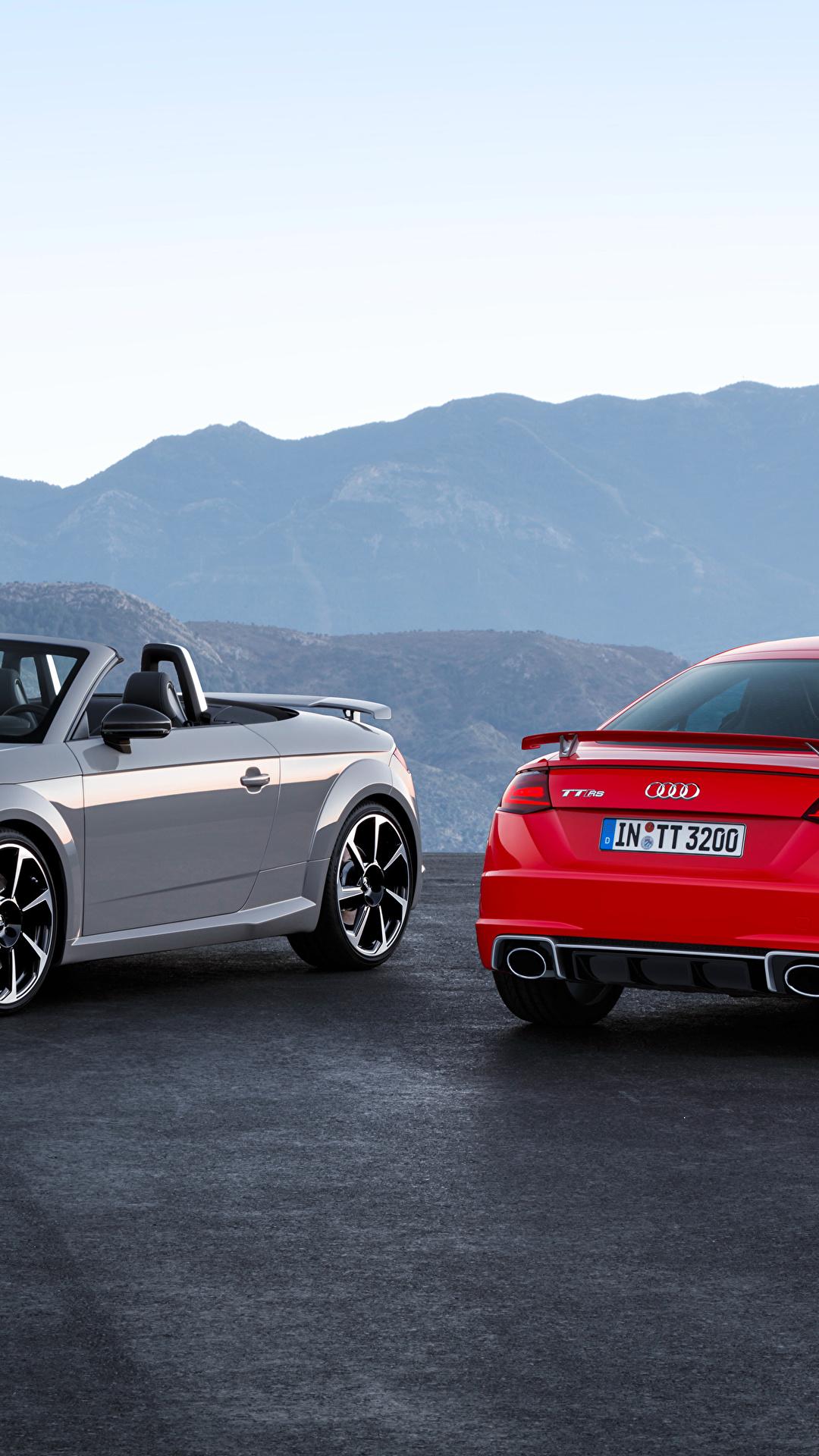 Картинки Audi 2016 TT RS Roadster Родстер вдвоем авто Металлик 1080x1920 для мобильного телефона Ауди 2 два две Двое машина машины автомобиль Автомобили