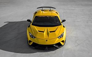Фотографии Lamborghini Желтые Vorsteiner Performante Huracan 2019 Vicenzo Edizione