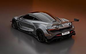 Обои McLaren Серый Металлик 2020, 720S, widebody kit, Prior Design Автомобили
