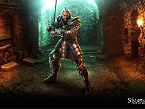 Фотография Воин Stormfall: Age of War Броня С мечом компьютерная игра Фэнтези