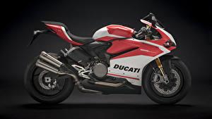 Фотография Дукати Черный фон Сбоку 2018 959 Panigale Corse Мотоциклы