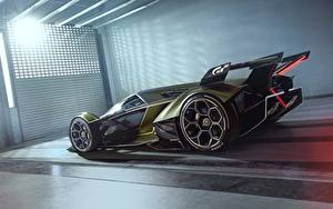 Обои Ламборгини Сбоку Vision Gran Turismo 2019 Lambo V12 авто
