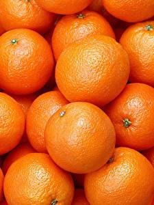Фотографии Текстура Цитрусовые Апельсин Много Еда