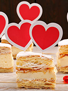 Картинка День святого Валентина Сладости Пирожное Сердце