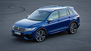 Фотография Фольксваген Синяя Металлик Tiguan R, 2020 авто