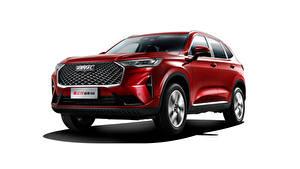 Картинка Haval Красный Металлик Белым фоном Кроссовер Китайская H6, 2020 машины
