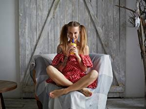 Фотография Сидящие Ноги Улыбка Veronika Wonka Девушки