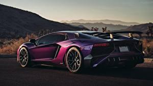 Обои Ламборгини Фиолетовых HRE Superveloce LP-750 Aventador SV, Viola Parsifae машина