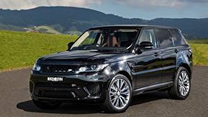 Картинка Land Rover Черная Металлик 2015-17 Sport SVR Автомобили