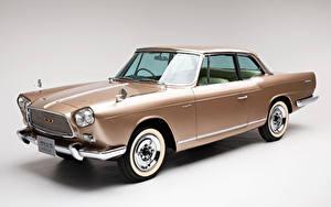 Картинки Винтаж Ниссан Серый фон Металлик 1961-63 Prince Skyline Sports Coupe Michelotti Авто