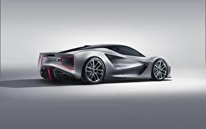 Фото Lotus Серебристая Сбоку Evija Автомобили