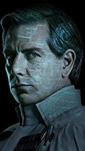 Картинки Мужчины Изгой-один. Звёздные войны: Истории Лицо На черном фоне Orson Callan Krennic (Ben Mendelsohn) Фильмы