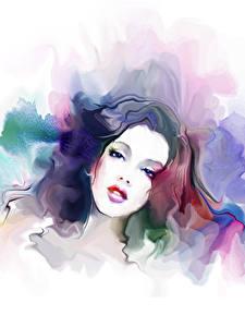 Картинки Рисованные Лицо Взгляд Девушки