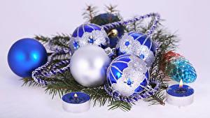 Фотография Новый год Свечи Шарики