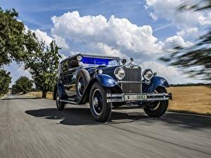 Фото Ретро Skoda Скорость Синий 1932 860 Cabriolet Авто
